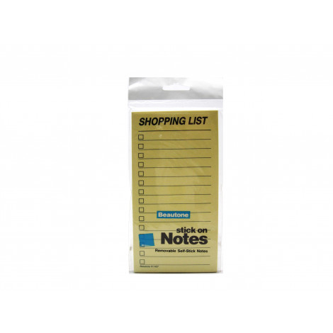 Stick'n Beautone 11427 Shopping List