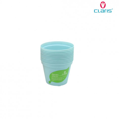 Claris Pot Bibit 6208 (12 Pcs) - Soft Blue