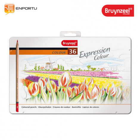 Bruynzeel Expression Coloured Pencils Tin 36