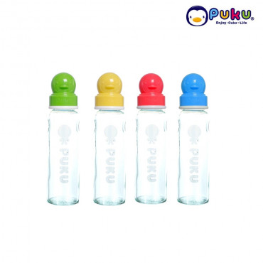 Puku Glass Feeding Bottle 240cc - 10105 [Botol Susu}