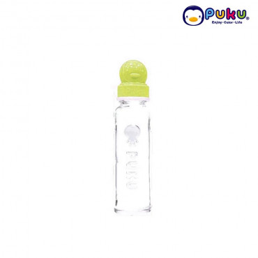 Puku Glass Feeding Bottle 240cc - 10105 [Botol Susu} Yellow