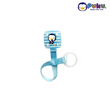 Puku Pacifier Chain 11114 Square Stripe - Blue