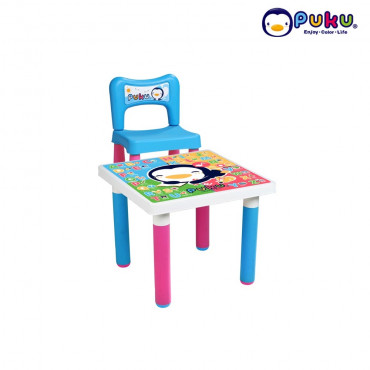 Puku Fantastic Table + 1 chair 30501 Pink and Blue