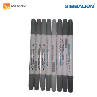 Jual SIMBALION Brush Marker 1 Set Grey Colors