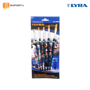 Jual LYRA Art Brush Flat Set