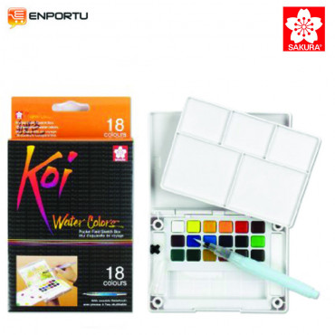 Sakura KOI 18 Watercolors Field Sketch Box