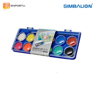 Jual Cat Air SIMBALION Water Color Cake (12 Colors)