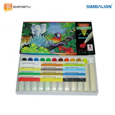 SIMBALION Poster Color 12 cc PT-12P
