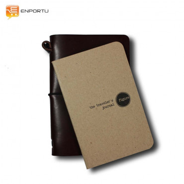 Notebook Brown Traveler's Journal Brown