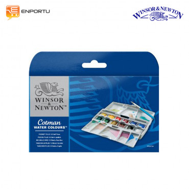 WINSOR & NEWTON Cotman Water Color Sketcher Pocket 12 Set