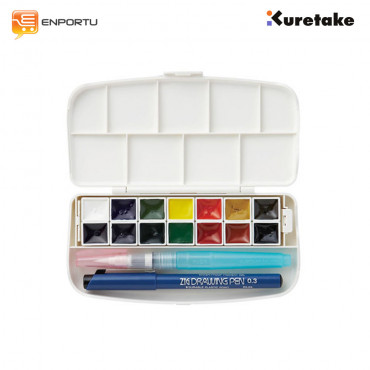 KURETAKE Zig Watercolor System Transparent Watercolor Set 14 Colors