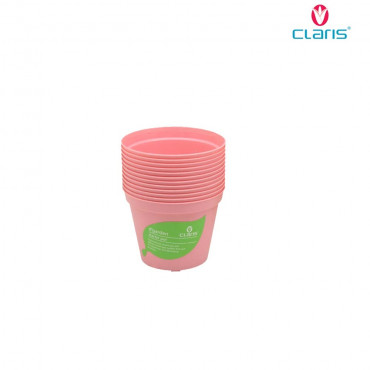 Claris Pot Bibit 6208 (12 Pcs) - Pink