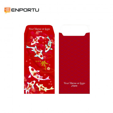 Custom Angpau Chinese New Year 2019 - Motif KOI A001