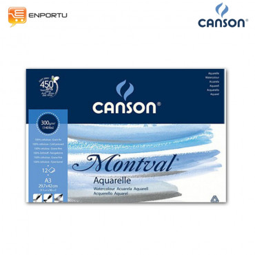CANSON Montval Water Color Pad A3 300 GSM