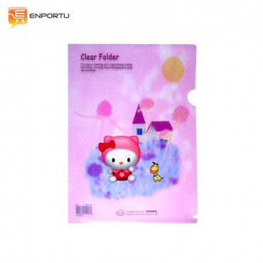 KINARY - Cartoon clear folder (beauty)