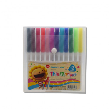 Simbalion Spidol/ Coloring Children Marker 3012-Tin Tri 12 Color