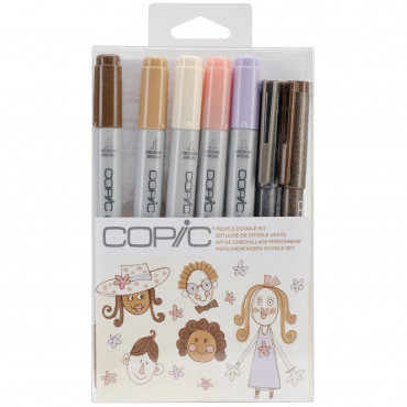 Copic Doodle People Kit - 7 Pcs