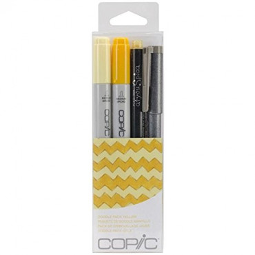 Copic Doodle Pack Yellow - Set 4 Pcs