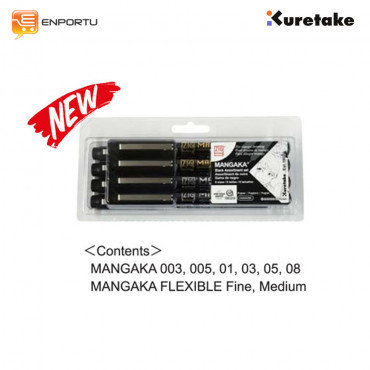 KURETAKE Zig Cartoonist Mangaka Set 8 Assortment Set (CNM/8VBK)