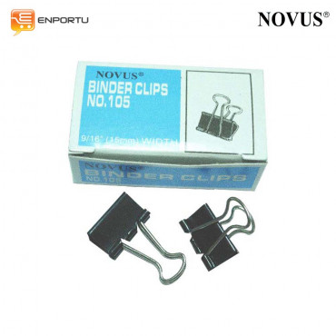 "Binder Clips NOVUS No. 105 (9/16"" = 15mm)"
