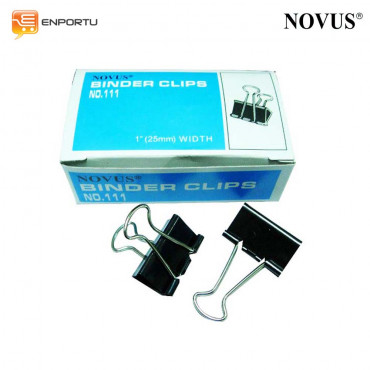 "Binder Clips NOVUS No. 107 (3/4"" = 19mm)"