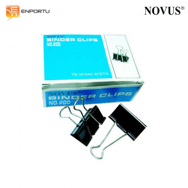 Novus Binder Clips No. 200 (1 5/8inch / 41mm)