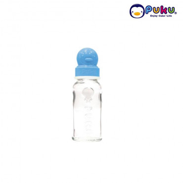 Puku Glass Feeding Bottle 140cc - 10106 [Botol Susu] Blue