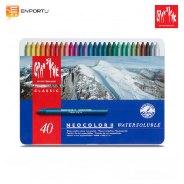 Jual Crayon CARAN D`ACHE Neocolor II Metal Box 40 Colors