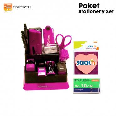 Paket Stationery Set- Pink