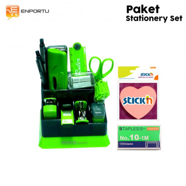 Paket Stationery Set- Green