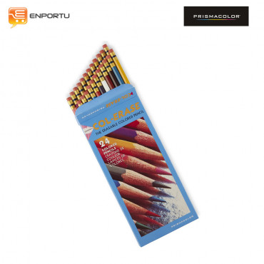 Prismacolor Col-Erase Erasable Colored Pencils, 24-Count