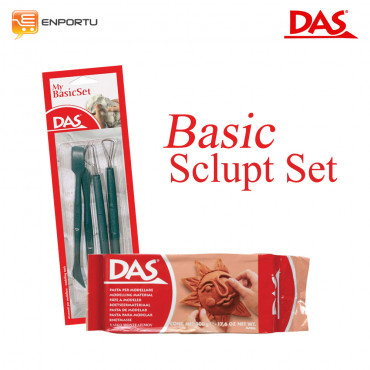 Jual Paket DAS Sculpt Basic Set Brown - 500 gr