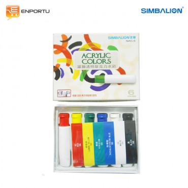 Simbalion Cat Acrylic Set 6 Colors NAC-6