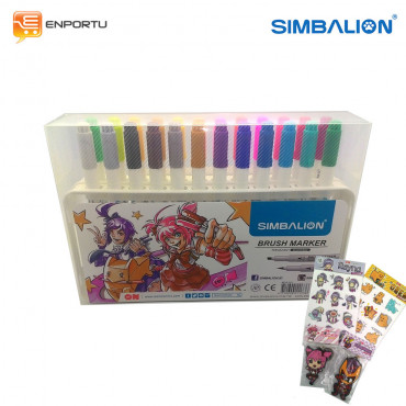 Jual SIMBALION Brush Marker Set 24 Warna