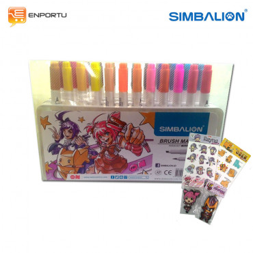 SIMBALION Brush Marker Set 36