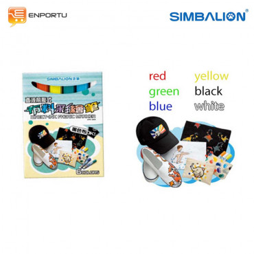 Simbalion Direct Ink Fabric Marker – 6 Colors DFM-240/6