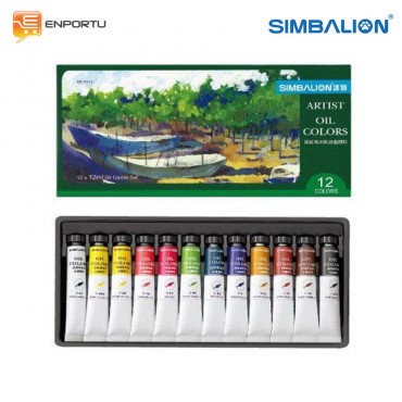 Simbalion Set Oil Color 12 ML - 12 Warna (OC 12/12)
