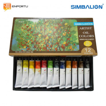 Simbalion Set Oil Color 22 ML - 12 Warna (OC 22/12)