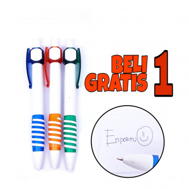 Ballpoint Clicker Pen 8778B - BUY 1 GET 1